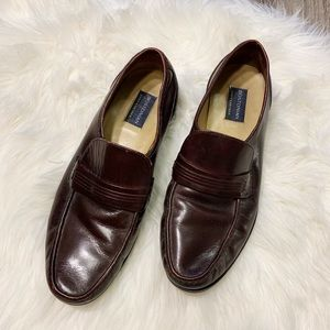 Bostonian Men's Brown Leather Loafer Shoes 12